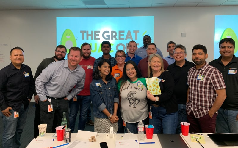 The Great Guac Off is an Atlanta team building event with food.
